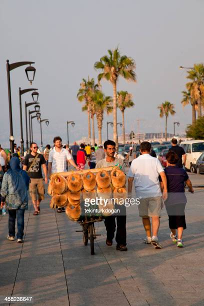 people are walking at waterfront of beirut lebanon - beirut stock pictures, royalty-free photos & images