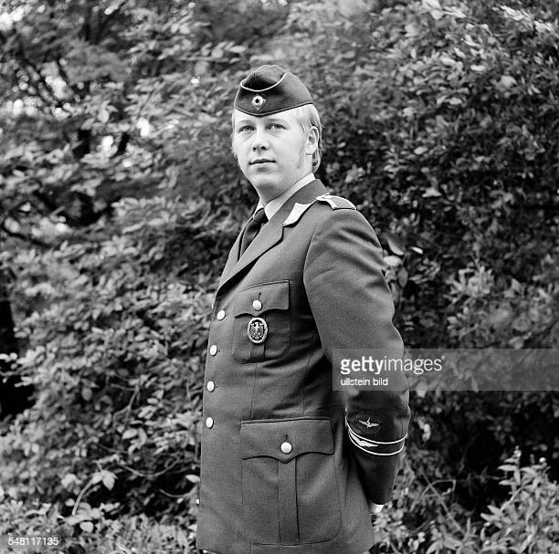 people army German Bundeswehr soldier posing in uniform aged 25 to 30 years Guenter