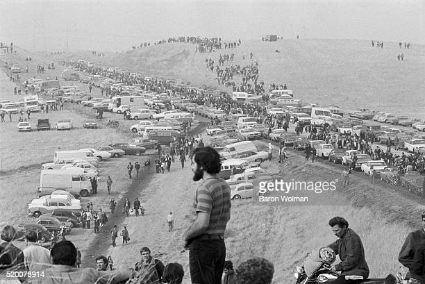 People arrive at the Altamont Speedway Free Festival in Northern California held on Saturday December 6 1969