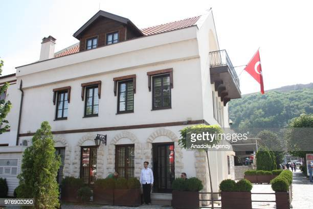 People arrive at Turkish Consulate General to Prizren to cast their votes for Turkey's presidential and parliamentary elections on June 24 in Prizren...