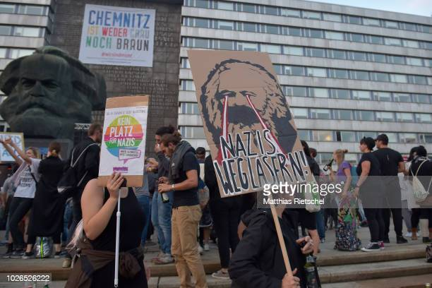 """People arrive to attend an open-air concert under the motto: """"We Are More"""" on September 3, 2018 in Chemnitz, Germany. The concert, initiated by local..."""