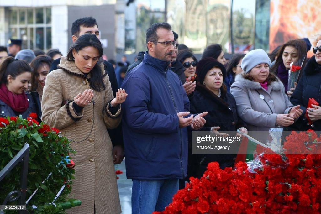 25th anniversary of Khojaly Massacre in Baku : News Photo