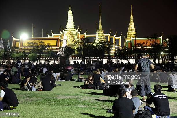 People assemble outside the Grand Palace to pay their respects to Thailand's late King Bhumibol Adulyadej in Bangkok Thailand's King Bhumibol...