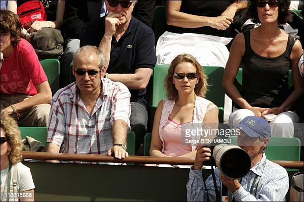 People At 2005 Roland Garros Tennis Tournament On June 2Nd 2005 In Paris France Here Claire Borotra And Jerome Anger