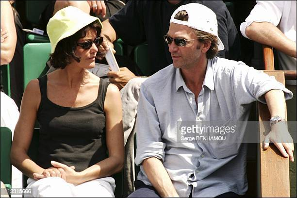 People At 2005 Roland Garros Tennis Tournament - On June 2Nd, 2005 - In Paris, France - Here, Philippe Caroit And Caroline Tresca