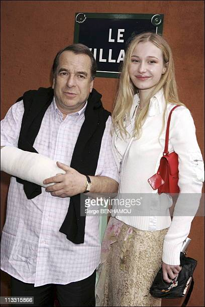 People At 2005 Roland Garros Tennis Tournament On June 3Rd 2005 In Paris France Here Paul Loup Sulitzer And Eva
