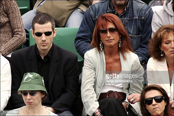 People At 2005 Roland Garros Tennis Tournament - On June 3Rd, 2005 - In Paris, France - Here, Bruno Putzulu And Julie Pietri
