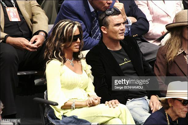 People At 2005 Roland Garros Tennis Tournament On June 4Th 2005 In Paris France Here Richard Virenque And His Wife