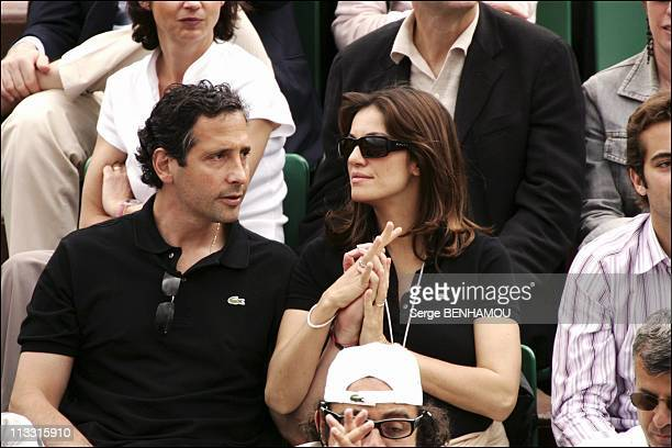 People At 2005 Roland Garros Tennis Tournament On June 4Th 2005 In Paris France Here Nadia Fares And Her Husband