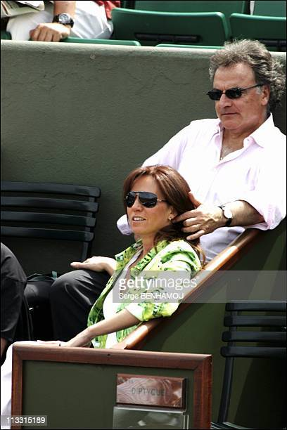 People At 2005 Roland Garros Tennis Tournament On May 26Th 2005 In Paris France Here Alain Afflelou And His Wife Rosalie