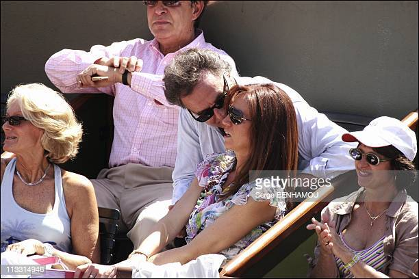 People At 2005 Roland Garros Tennis Tournament On May 27Th 2005 In Paris France Here Alain Afflelou And Rosalie