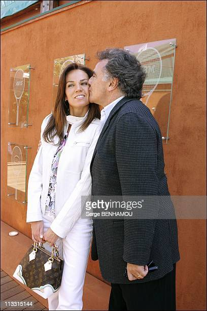 People At 2005 Roland Garros Tennis Tournament On May 27Th 2005 In Paris France Here Alain Afflelou And His Wife Rosalie