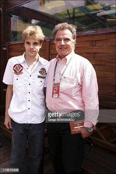 People At 2005 Roland Garros Tennis Tournament On May 28Th 2005 In Paris France Here Alain Afflelou And His Son Anthony