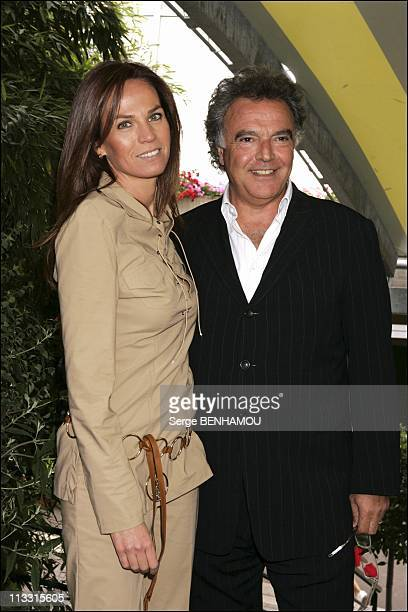People At 2005 Roland Garros Tournament On May 30Th 2005 In Paris France Here Alain Afflelou And Rosalie