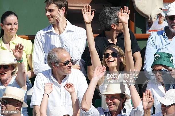 People At 2006 Roland Garros Tennis Tournament On June 10Th 2006 In Paris France Here Jerome Anger And Claire Borotra