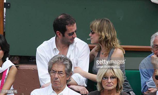 People At 2006 Roland Garros Tennis Tournament On June 4Th 2006 In Paris France Here Christian Vadim And Julia Livage