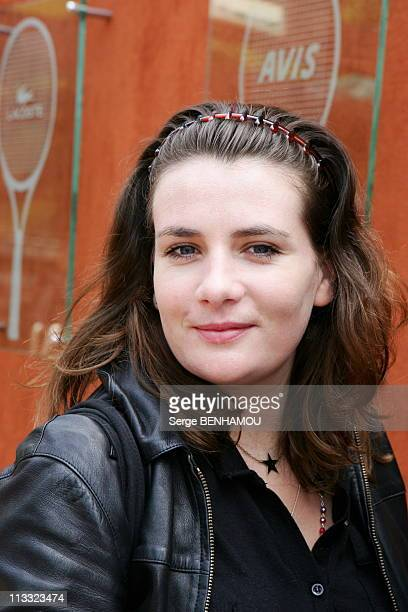 People At 2006 Roland Garros Tennis Tournament On June 5Th 2006 In Paris France Here MarieAmelie Seigner