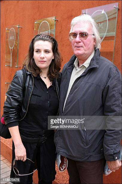 People At 2006 Roland Garros Tennis Tournament On June 5Th 2006 In Paris France Here MarieAmelie Seigner And Her Father JeanLouis