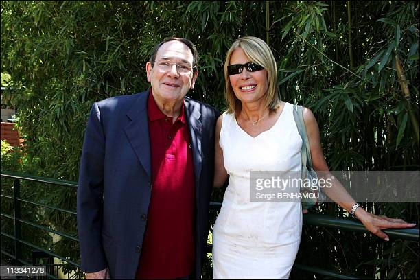 People At 2006 Roland Garros Tennis Tournament On June 9Th 2006 In Paris France Here Robert Hossein And Candice Patou