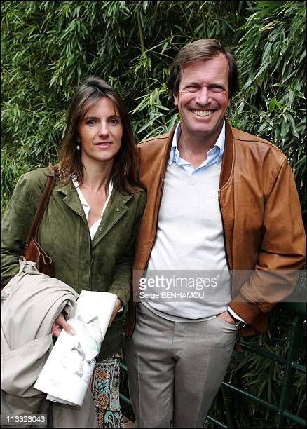People At 2006 Roland Garros Tennis Tournament On May 29Th 2006 In Paris France Here Hubert Auriol And His Wife