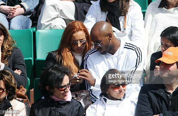 People At 2006 Roland Garros Tennis Tournament On May 30Th 2006 In Paris France Here Nicolas Anelka And His Friend