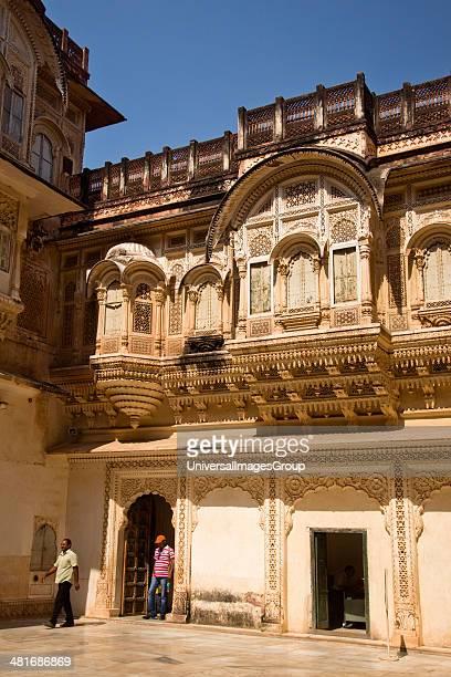People at a fort Meherangarh Fort Jodhpur Rajasthan India