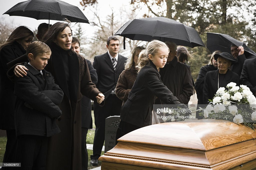 people at a funeral : Stock Photo