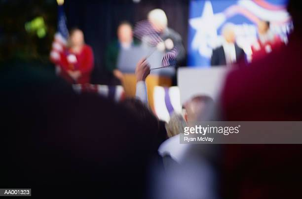 people at a political rally - political rally stock pictures, royalty-free photos & images