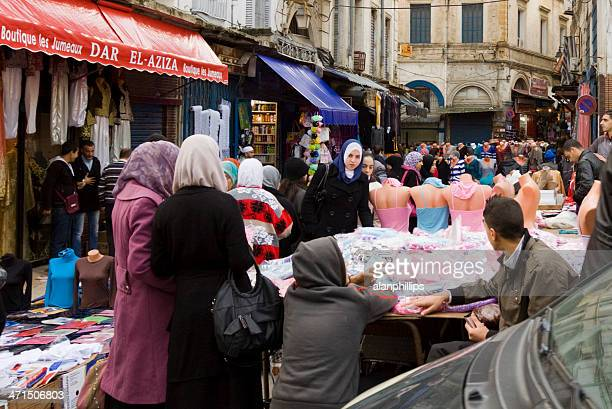 people at a street market in algiers - algiers algeria stock pictures, royalty-free photos & images