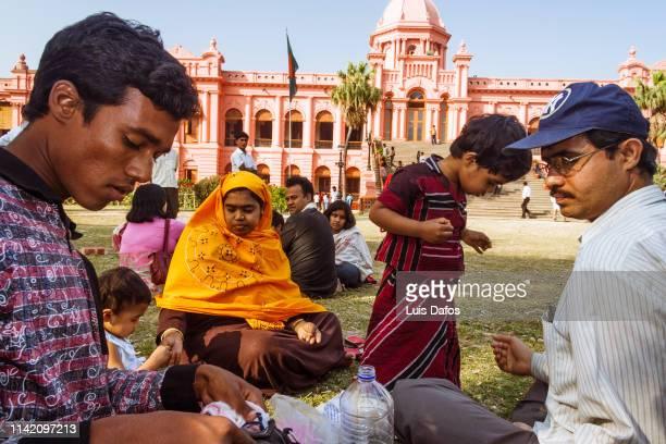 People at Ahsan Manzil (Pink Palace)