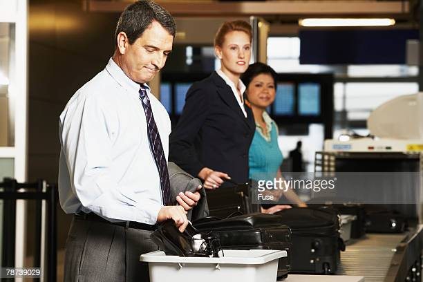 People at Airport Security Check
