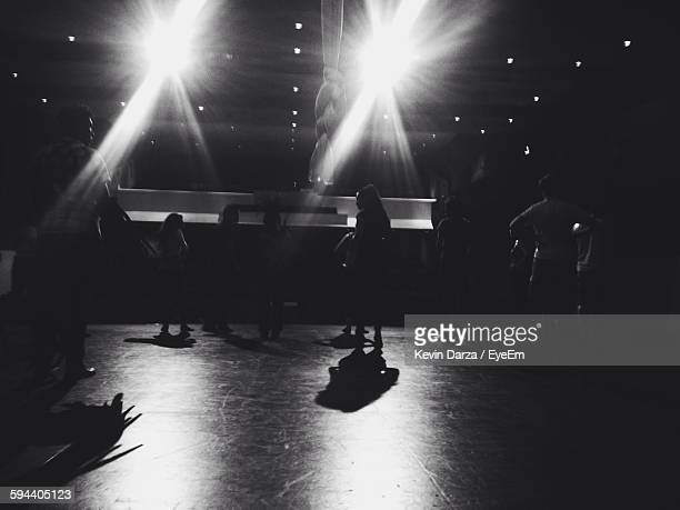 people at backstage in theater - backstage stock pictures, royalty-free photos & images