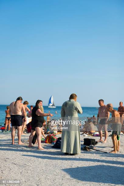 people at beach in odessa, ukraine - odessa ukraine stock pictures, royalty-free photos & images