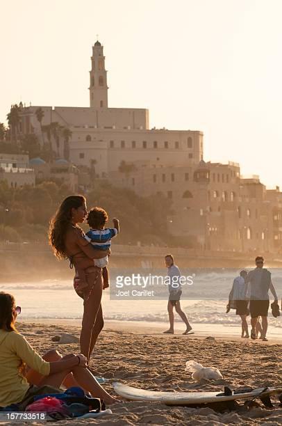 People at beach in Tel Aviv