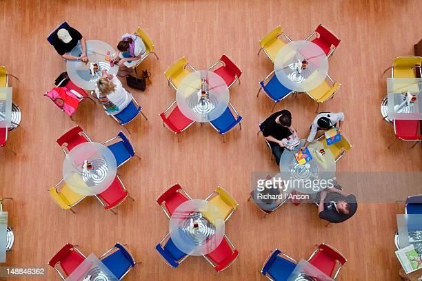 People at cafe at Marina Mall shopping centre.