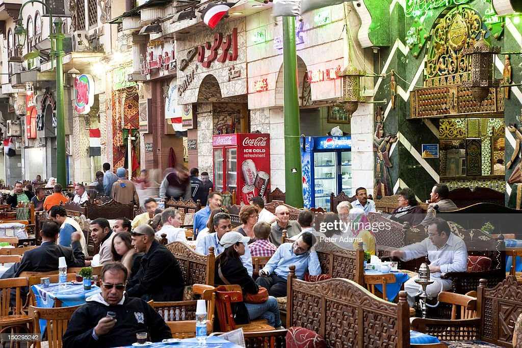 People At Cafes Khan Alkhalili Cairo Egypt Stock Photo - Getty Images