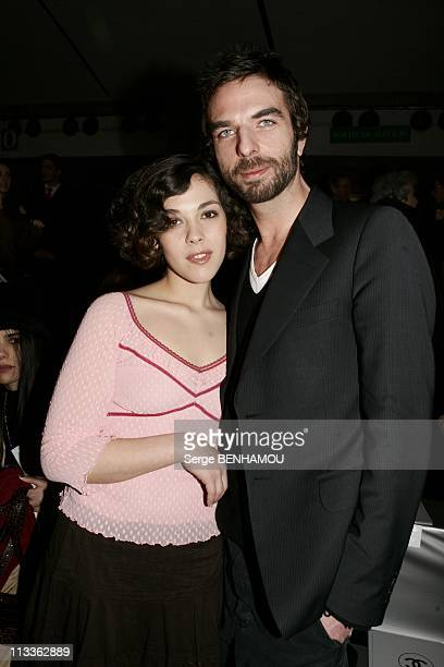 People At Chanel FallWinter 20052006 Ready To Wear Fashion Show On March 4Th 2005 In Paris France Alysson Paradis And John Nollet