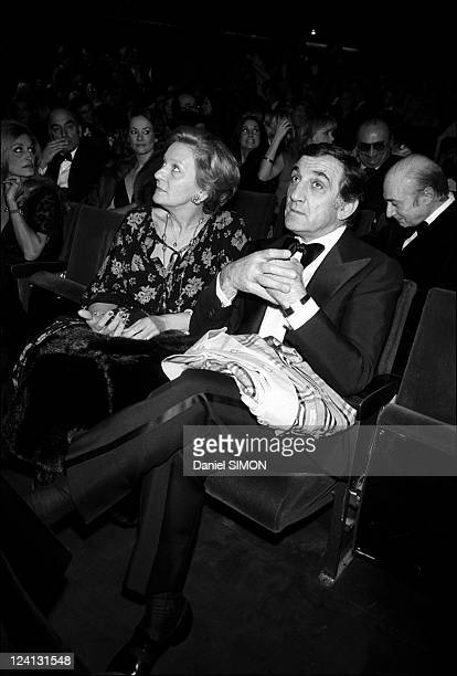 People at Charles Aznavour premiere at Olympia In Paris France On January 27 1976 Odette and Lino Ventura