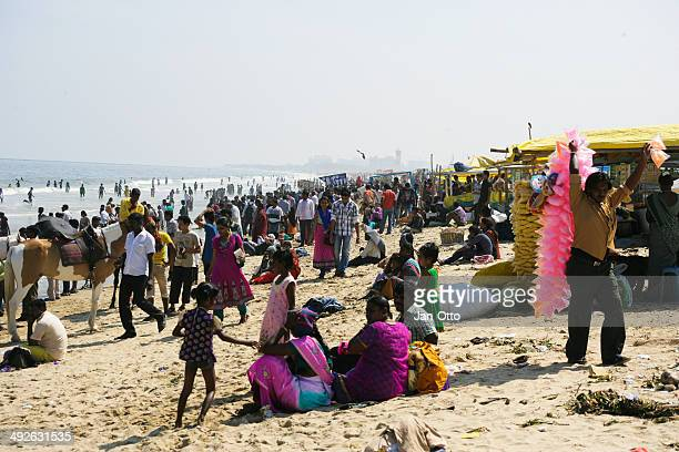 people at chennai beach - chennai stock pictures, royalty-free photos & images