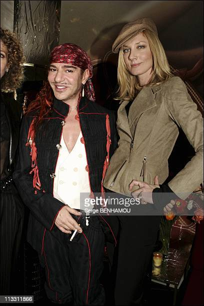 People At Christian Dior Haute Couture Spring Summer 2005 On January 24Th 2005 In Paris France John Galliano And Joely Richardson