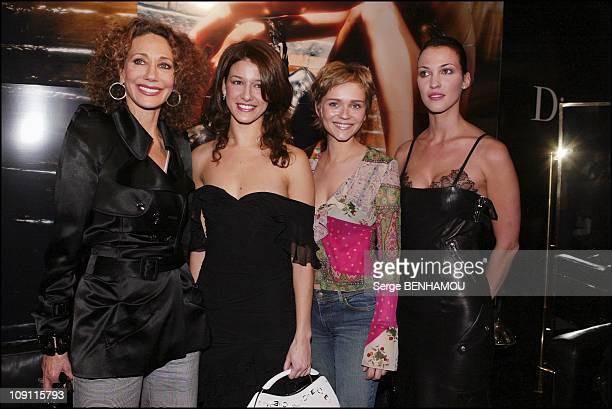People At Christian Dior'S Fashion Show FallWinter 20042005 On March 3 2004 In Paris France Marisa Berenson Maria Jurado Claire Borotra Linda Hardy