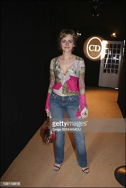People At Christian Dior'S Fashion Show FallWinter 20042005 On March 3 2004 In Paris France Claire Borotra