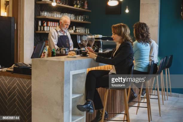 People at coffee break