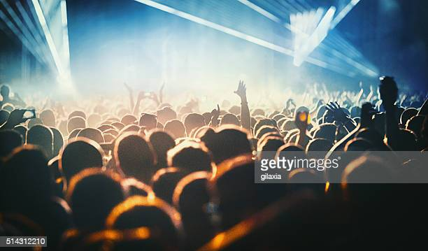 People at concert party.