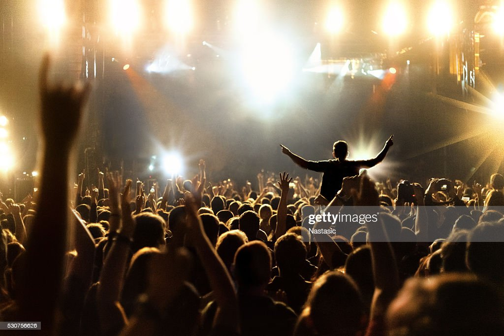 People at concert : Stock Photo