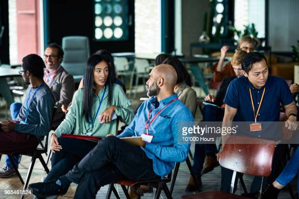 people at conference - conference centre stock pictures, royalty-free photos & images