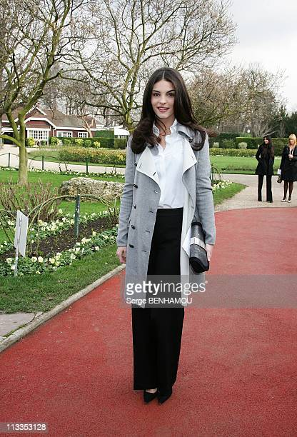 People At Dior SpringSummer 2007 Haute Couture Fashion Show In Paris France On January 22 2007 Bojana Panic