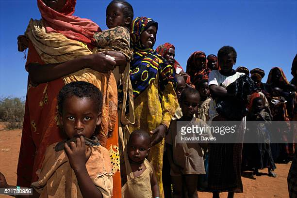 People at Famine Relief Project in Kenya