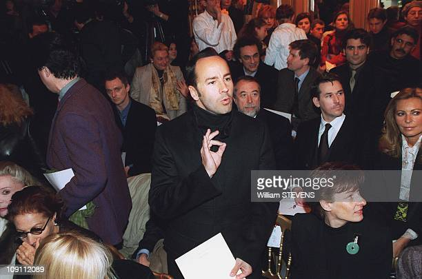 """People At Fashion Show """"Haute Couture"""" Yves Saint Laurent In Paris, France. Tom Ford"""