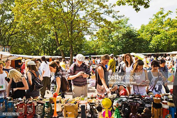 People at Flohmarkt, Berlin, Germany